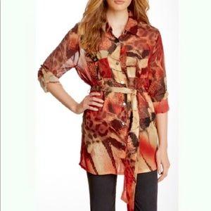 🌷Da-Nang Long Sleeve 100% Silk Blouse🌷